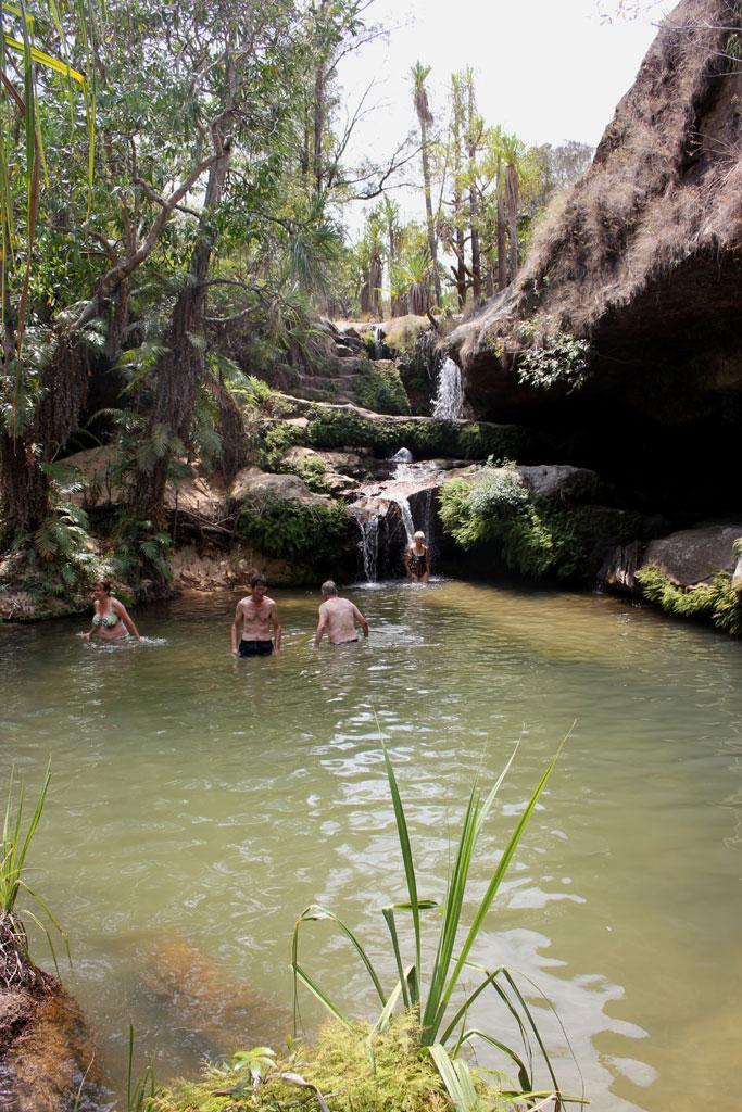 We zwemmen in de Piscine Naturel