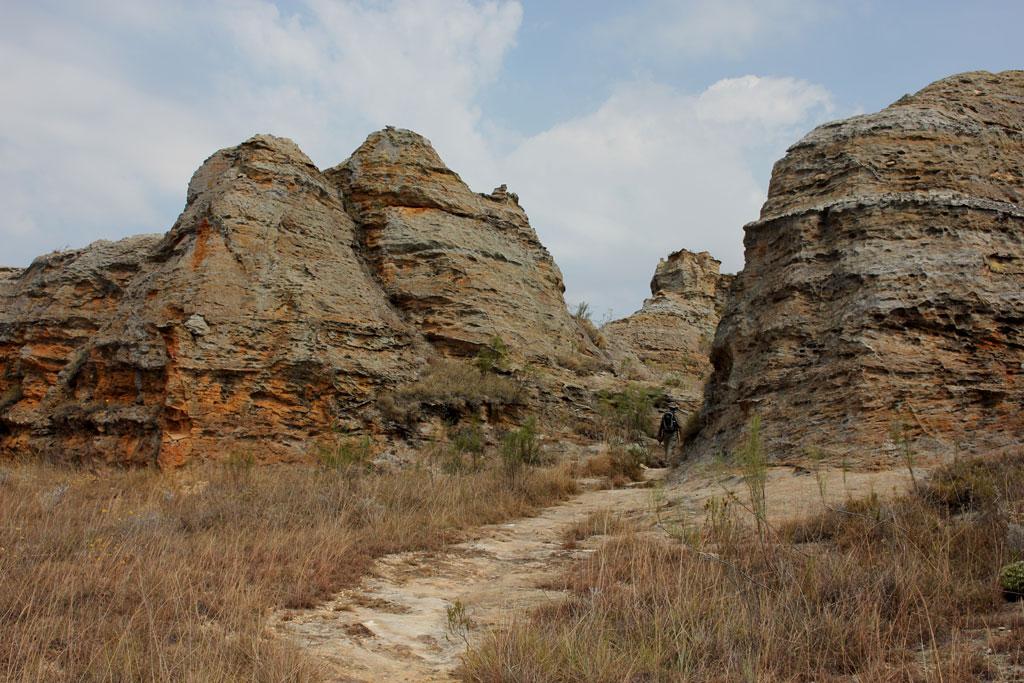 Zandsteenformatie in Isalo Nationaal Park