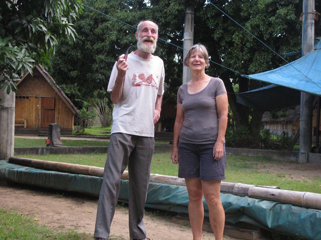 Afscheid van George en Marcia, die voor Centre Lambahoany staan.