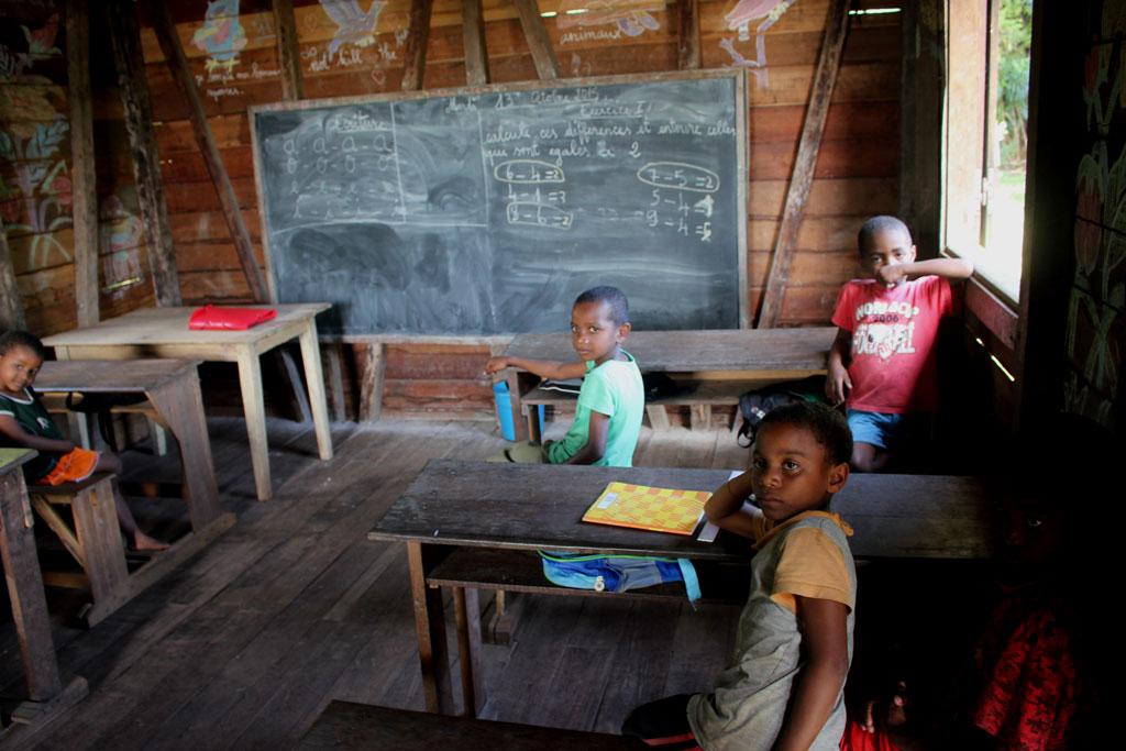 Een klaslokaal van een groep